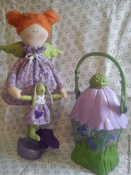 """Куклы Тильды ручной работы. Ярмарка Мастеров - ручная работа. Купить Тильда принцесса ангел """"Горошинка"""" на подставке. Handmade."""
