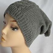 Аксессуары handmade. Livemaster - original item Men`s Hat beanie gray Merino Drops. Handmade.