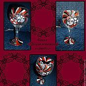 """Посуда ручной работы. Ярмарка Мастеров - ручная работа Бокал """"Неаполетанский карнавал"""". Handmade."""