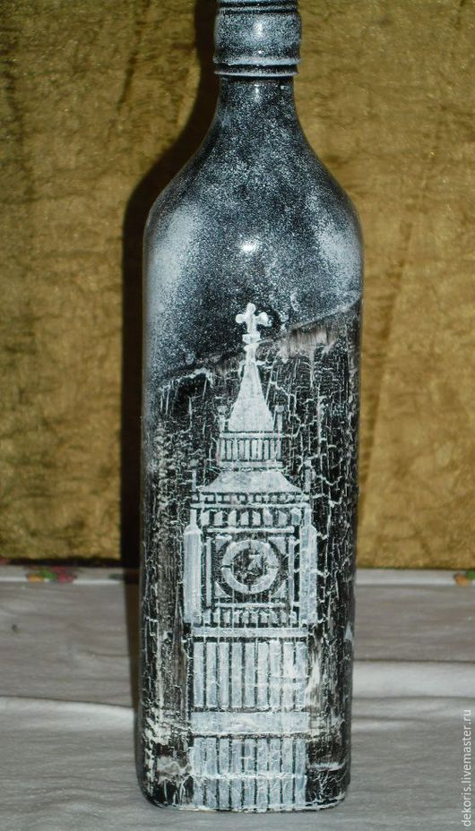Элементы интерьера ручной работы. Ярмарка Мастеров - ручная работа. Купить бутылка виски. Handmade. Интерьер, бутыль, биг бен