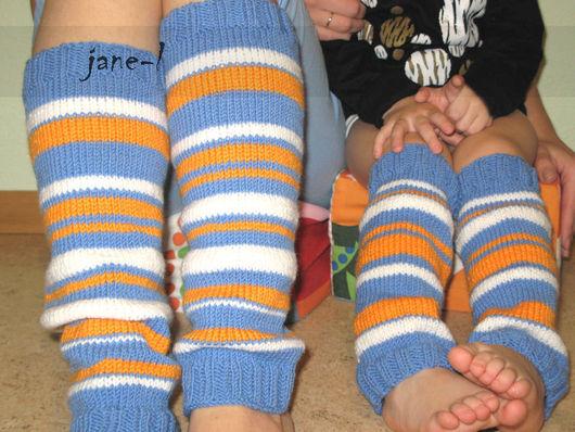 Носки, Чулки ручной работы. Ярмарка Мастеров - ручная работа. Купить Гетры вязаные комплект для мамы и ребенка. Handmade. Гетры