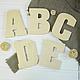 Объемные буквы для декора интерьера или фотосессии изготовлены из дерева и при желании могут быть покрашены в любой цвет