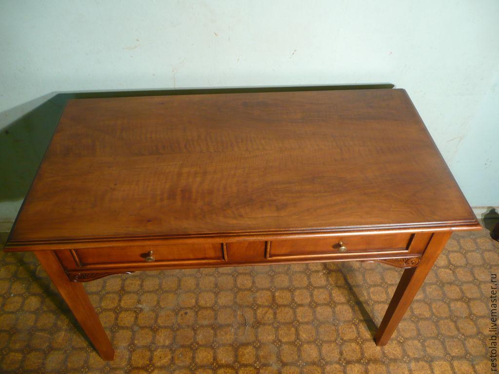 Реставрация стола своими руками Восстанавливаем письменный стол