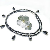 Украшения handmade. Livemaster - original item Necklace with black diamonds 60 ct buy. Handmade.