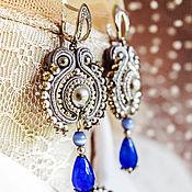 Украшения handmade. Livemaster - original item Earrings Cool. Soutache earrings. bead earrings. Handmade.