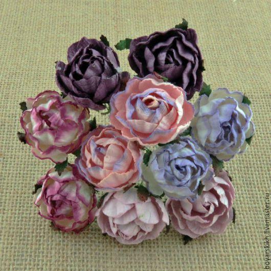 Открытки на все случаи жизни ручной работы. Ярмарка Мастеров - ручная работа. Купить Английская роза, пурпурно-лиловые тона. Handmade.