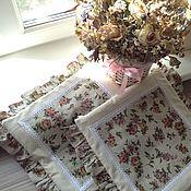 """Для дома и интерьера ручной работы. Ярмарка Мастеров - ручная работа Подушки на стулья """"цветочный Винтаж"""". Handmade."""