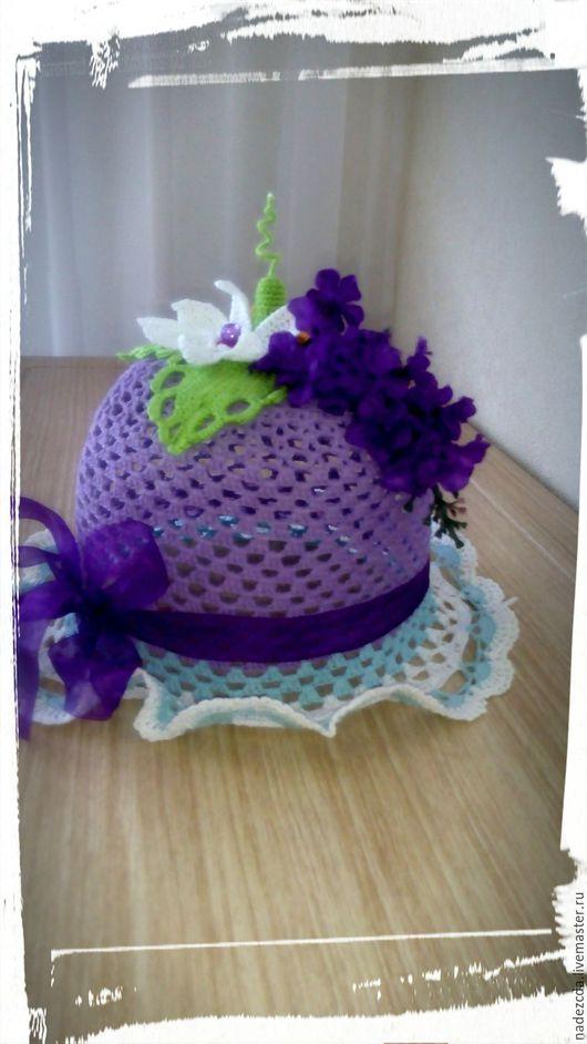 """Шляпы ручной работы. Ярмарка Мастеров - ручная работа. Купить Шляпка """"Сирень"""". Handmade. Фиолетовый, шляпка крючком"""