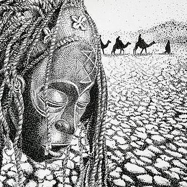 Картины и панно ручной работы. Ярмарка Мастеров - ручная работа сны об Африке. Handmade.