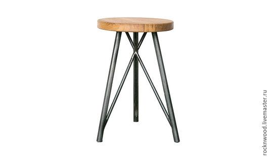 Мебель ручной работы. Ярмарка Мастеров - ручная работа. Купить Стул из дуба на металлическом основании. Handmade. Индастриал, стулья, табуретка