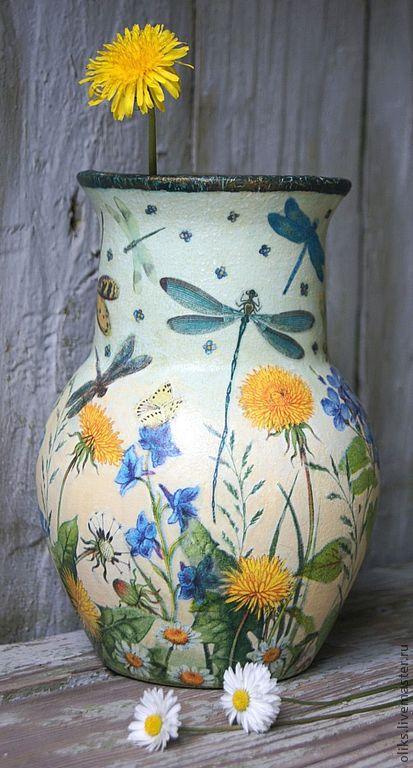 Керамический кувшин-крынка Стрекозки