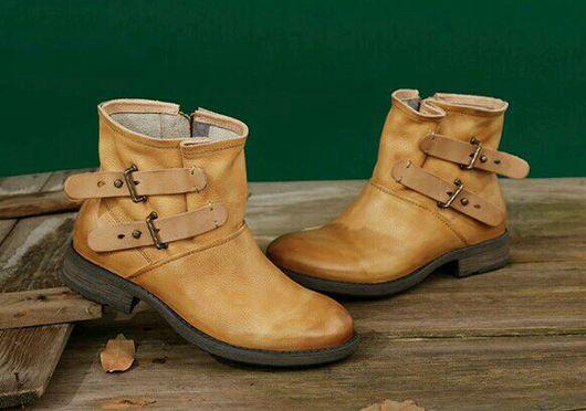 Обувь ручной работы. Ярмарка Мастеров - ручная работа. Купить Сапожки3. Handmade. Сапоги, осень, кожа натуральная мягкая