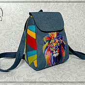 Сумки и аксессуары handmade. Livemaster - original item Backpack SP-M rainbow lion-1. Handmade.