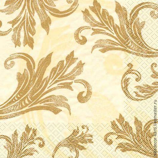 Декупаж и роспись ручной работы. Ярмарка Мастеров - ручная работа. Купить Классический золотой орнамент (211160) - салфетка для декупажа. Handmade.