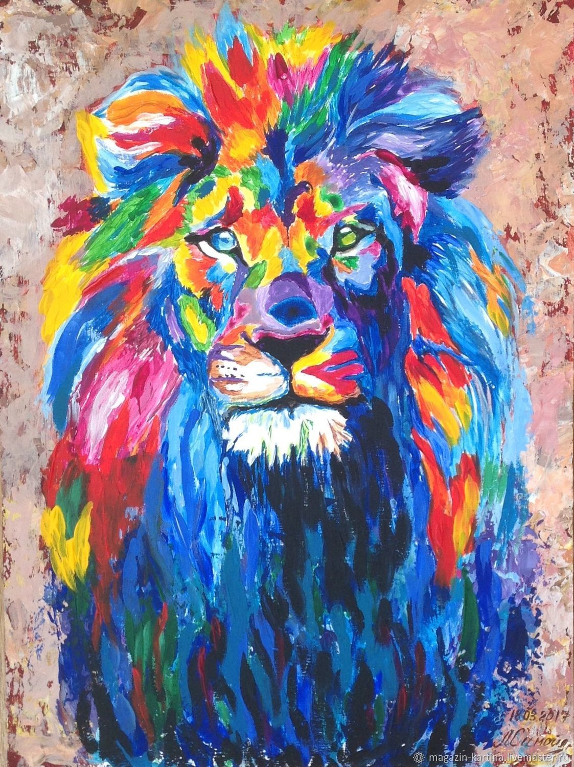 Proud lion Simba – shop online on Livemaster with shipping ...