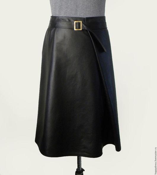 черная кожаная юбка фото, кожаные юбки 2015