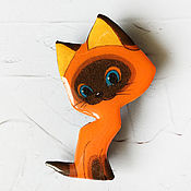 Украшения handmade. Livemaster - original item Orange brooch