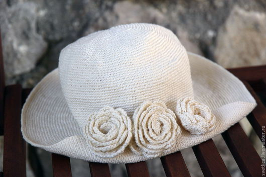 Панамы ручной работы. Ярмарка Мастеров - ручная работа. Купить Панама лён. Handmade. Белый, лён 100%