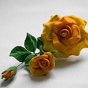 """Украшения ручной работы. Ярмарка Мастеров - ручная работа Брошь роза """"Бейби Голд"""". Handmade."""