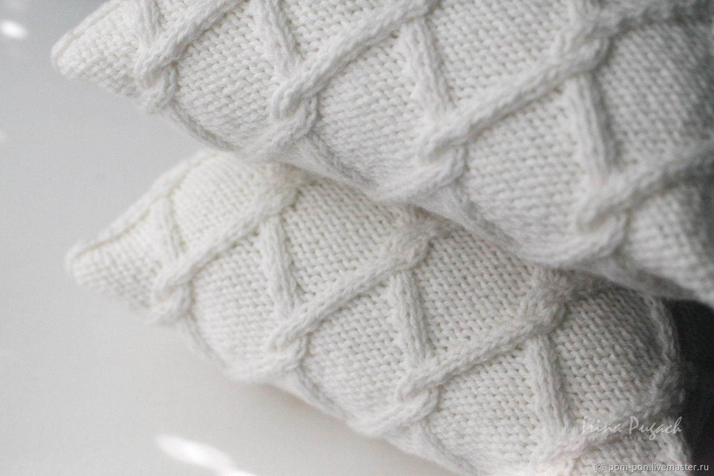 Текстиль, ковры ручной работы. Ярмарка Мастеров - ручная работа. Купить Вязаная подушка Milk. Handmade. Подушка декоративная