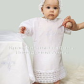 Работы для детей, handmade. Livemaster - original item Baptismal set of