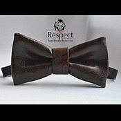 Ties handmade. Livemaster - original item Tie Slipknot / dark claret bow tie leather. Handmade.