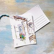 Картины и панно ручной работы. Ярмарка Мастеров - ручная работа Цветущий полдень - открытка акварелью. Handmade.