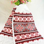 Свадебный салон handmade. Livemaster - original item Towel Slavic red and black. Handmade.