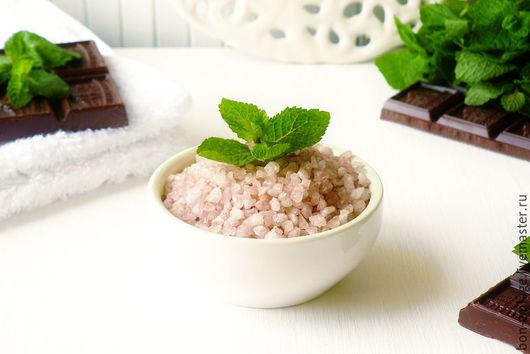 Соль для ванны ручной работы. Ярмарка Мастеров - ручная работа. Купить Шоколад и мята - соль для ванны. Handmade. Мятный