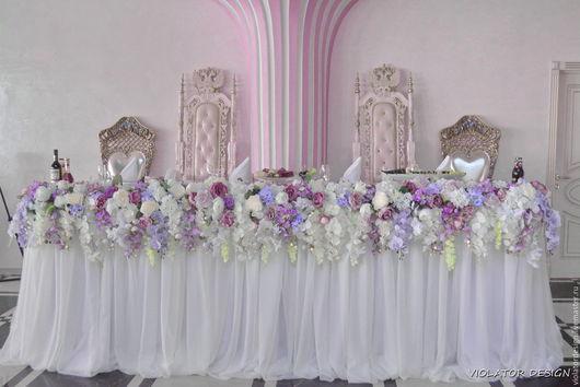 Свадебные цветы ручной работы. Ярмарка Мастеров - ручная работа. Купить Свадебная гирлянда с каскадом из орхидей в модном цвете 2016 года. Handmade.