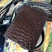 Канцелярские товары handmade. Livemaster - original item Cover for car documents leather crocodile IMA0248VK5. Handmade.