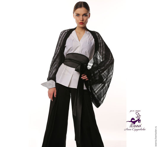 """Болеро, шраг ручной работы. Ярмарка Мастеров - ручная работа. Купить Болеро безразмерное """"Паутинка кимоно"""" вязаное из мягкого итальянского. Handmade."""