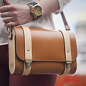 Сумки и аксессуары handmade. Livemaster - original item Calabria brown leather and wood bag. Handmade.