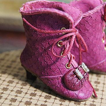 """Куклы и игрушки ручной работы. Ярмарка Мастеров - ручная работа Обувь для Антикварной и современной куклы """"Pink Duckling"""". Handmade."""