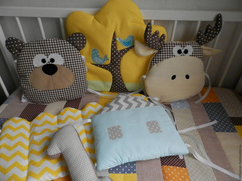 Детская подушка своими руками в кроватку 28