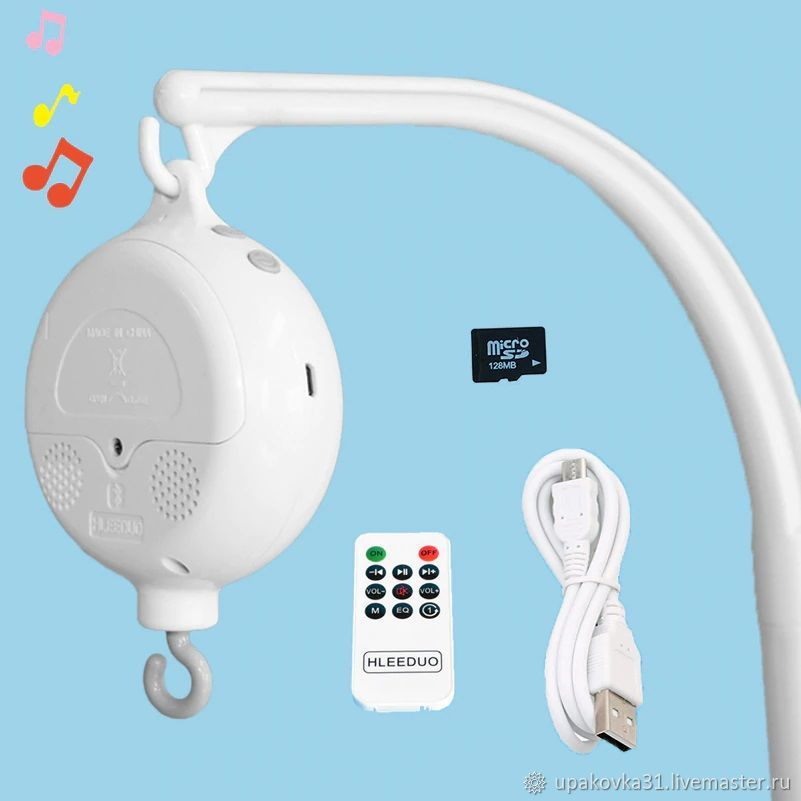 Music unit with memory card, USB and remote control, Toys for cribs, Stary Oskol,  Фото №1