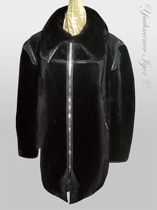 Верхняя одежда ручной работы. Ярмарка Мастеров - ручная работа. Купить Мужская куртка (темный бобер). Handmade. Куртка
