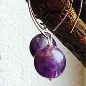 Украшения handmade. Livemaster - original item Earrings with amethysts !Morning!. Handmade.