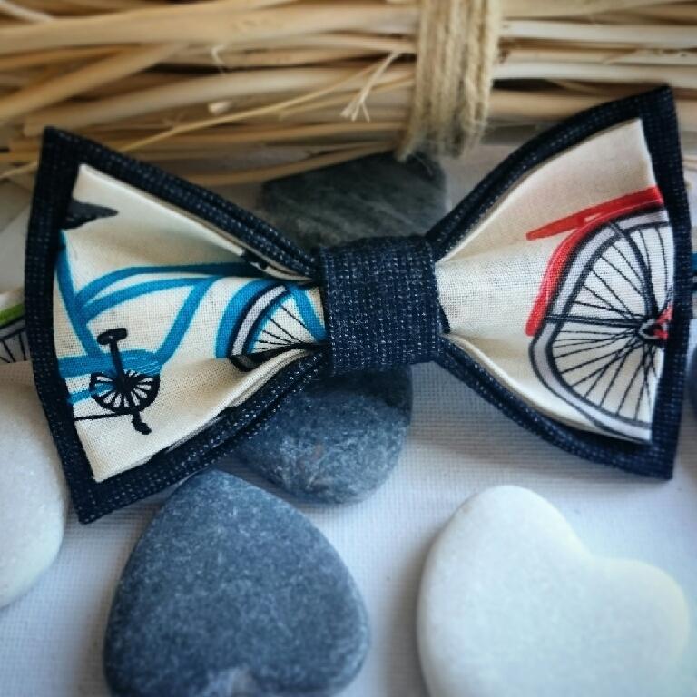 Двусторонняя галстук-бабочка 'Bicycle race', Галстуки бабочки, Санкт-Петербург, Фото №1