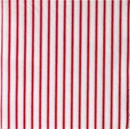 Декупаж и роспись ручной работы. Ярмарка Мастеров - ручная работа. Купить ост 1 шт Салфетка Тильда красная полоска. Handmade.