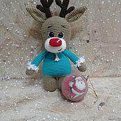 Мягкие игрушки ручной работы. Ярмарка Мастеров - ручная работа Мягкие игрушки: оленёнок. Handmade.