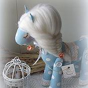 Куклы и игрушки handmade. Livemaster - original item Horse textile Pea. Handmade.