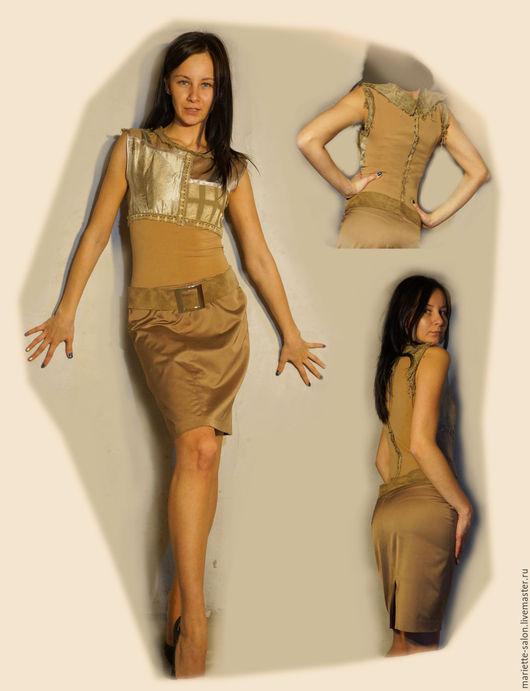 """Платья ручной работы. Ярмарка Мастеров - ручная работа. Купить стильное платье """"Для себя"""". Handmade. Коричневый, дизайнерская одежда"""