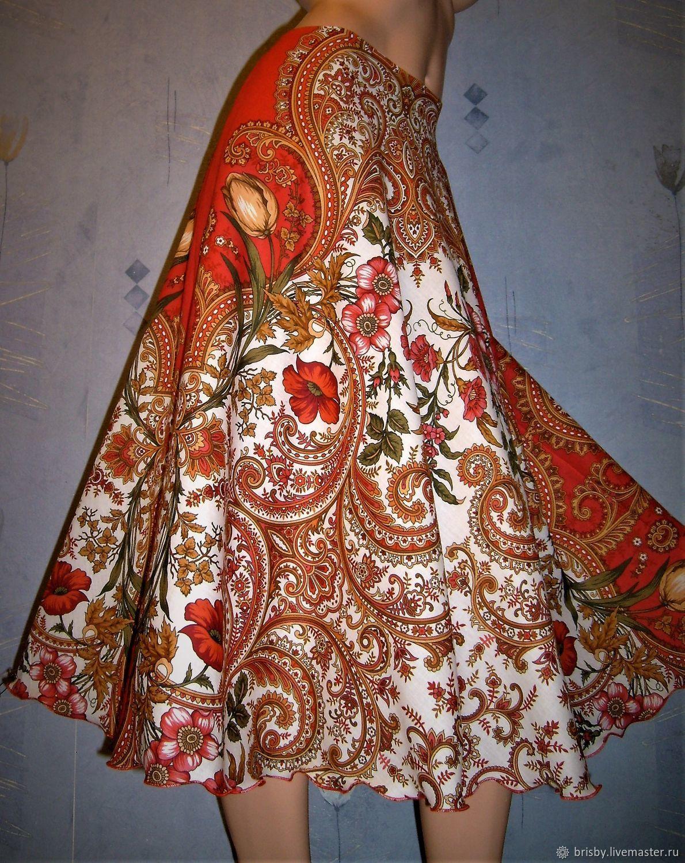 Skirt Maxi pavlogoradsky shawls 1 (cotton), Skirts, Moscow,  Фото №1
