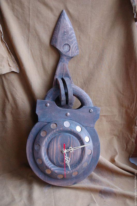 Часы для дома ручной работы. Ярмарка Мастеров - ручная работа. Купить Часы с монетами. Handmade. Коричневый, дачный сезон