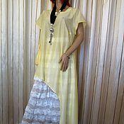Одежда handmade. Livemaster - original item Yellow asymmetrical tunic. Handmade.