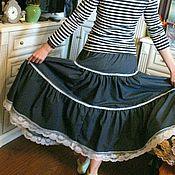 Одежда ручной работы. Ярмарка Мастеров - ручная работа распродажа Юбка  джинс. Handmade.