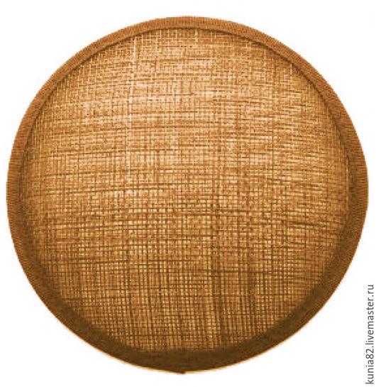 Основа для шляпки, вуалетки, синамей, диаметр 11 см. Цвет: БРОНЗА, полуфабрикат для изготовления шляп и головных уборов. Анна Андриенко. Ярмарка