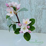 Цветы и флористика ручной работы. Ярмарка Мастеров - ручная работа Цветущая яблоня. Handmade.