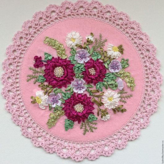 """Картины цветов ручной работы. Ярмарка Мастеров - ручная работа. Купить Вышивка лентами """"Весенняя"""". Handmade. Вышивка лентами"""